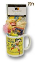 Wonder Woman Comic Mug with/without a lush selection of 70's or 80's retro sweets